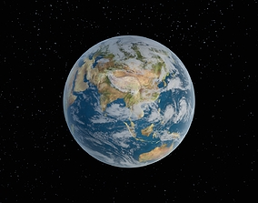 3D model game-ready Planet Earth