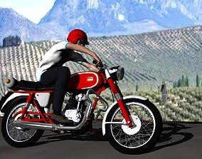 Ducati 160 Sport 3D asset