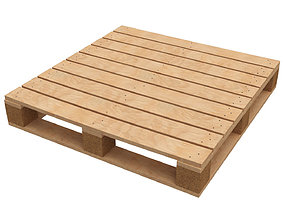 Wood Pallet detailed 3D