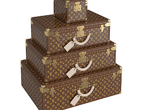 3D Louis Vuitton Suitcases