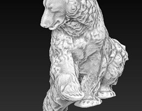 Walking bear sculpture 3D printable model