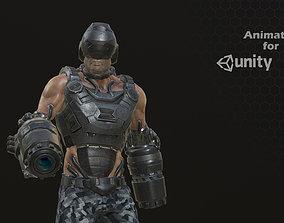 Sci Fi Soldier kamikaze 3D model