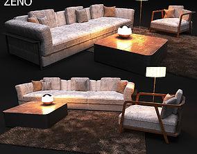 3D Elegant sofa in modern style Zeno