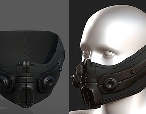 Gas mask respirator scifi futuristic 3d game-ready
