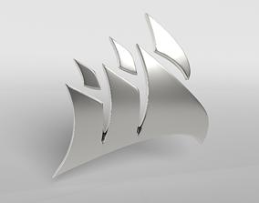 3D asset low-poly Corsair Logo v1 004