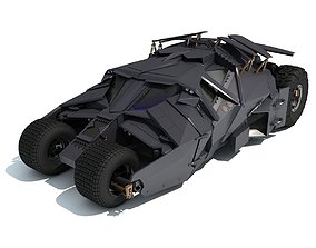 3D Black Batmobile