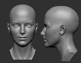 Female head 5 3D print model