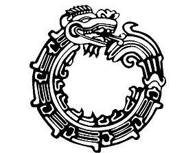 3D print model Mayan Dragon Symbol