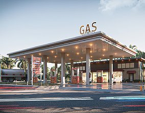 fuel 3D Gas station