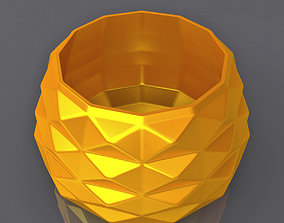 Triangulation Bowl Geometric Shape 3D Print 1