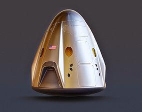 3D model Rocket - SpaceX Crew Dragon 2