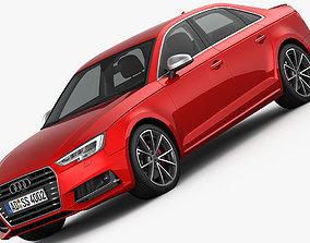 3D model Audi S4 2016 detailed interior
