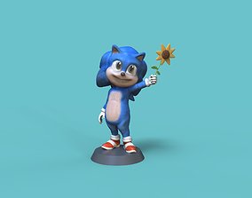 3D print model Baby Sonic hedgehog