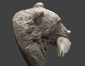 Bear and salmon 1 bear 3D printable model