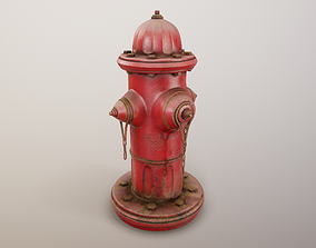 Fire Hydrant PBR Game Ready 3D asset