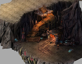 Stone Mengmengling - Mine hole entrance 01 3D model