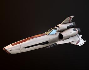 Battlestar Galactica Viper Mk II 3D asset