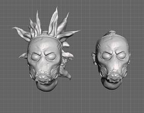 Borderlands 3 Psycho Miniature Heads 28mm 3D print model 1