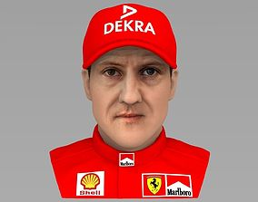 Michael Schumacher bust ready for full color 3D