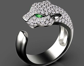 panther ring 3D printable model earrings