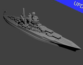 3D print model US New Mexico Class Battleship