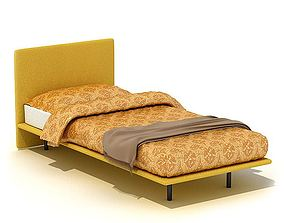 Contemporary Bed Frame And Headboard 3D model