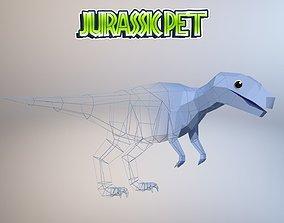 3D asset animated game-ready Allosaurus