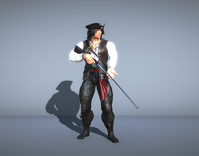 3D Pirate with gun