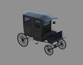 3D model wodden carriage