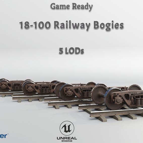 Railway Bogie Game Ready