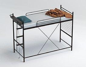 Modern sloppy loft bed 3D