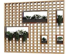 3D model partition plant in box set 042