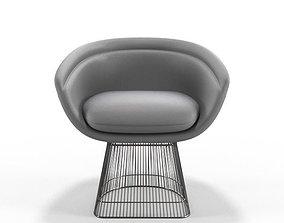Warren Platner Lounge Chair 3D model low-poly