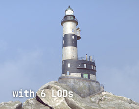 3D asset Lighthouse Aniva WithLods
