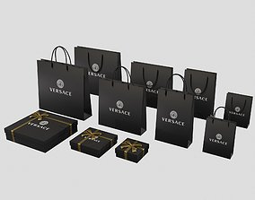 Versace Gift Packaging Boxes and Paper Bags 3D model