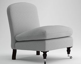 George Smith White Chair 3D