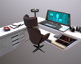 3D model Sci-fi work desk