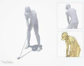 3D asset Golf Pose Sport Character