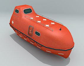 Enclosed Lifeboat 3D model
