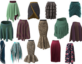 3D model collecttion 14 skirts