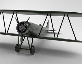 3D asset rigged Historic Plane - Game Ready-PBR