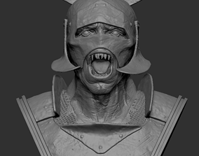 3D print model Orc warrior bust