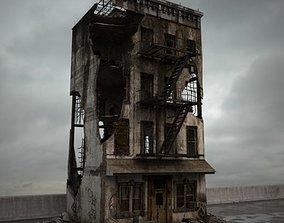 3D destroyed building 083 am165