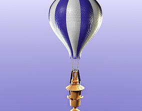 Bird feeder with hot air balloon 3D asset