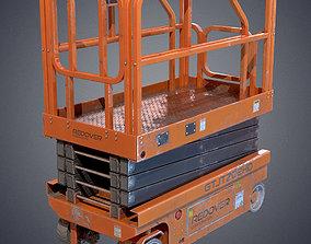 Industrial lift platform 3D asset