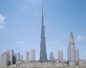3D Burj Khalifa Dubai Downtown