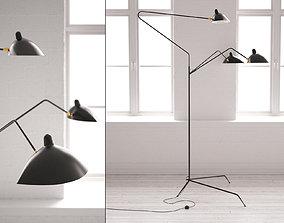 Three Arm Floor Lamp 3D model