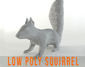 Squirrel Lowpoly Chipmunk Rodent Mammal Animal 3D model 1