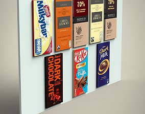 3D asset Chocolate Bars set
