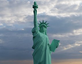 Statue of Liberty york 3D model low-poly
